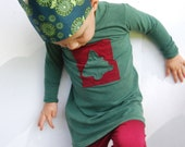 Eco Friendly Crown - Dress Up  - Green Organic Cotton - Toy - Imaginative Play - Costume - King - Queen - Princess