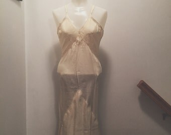 1930s Ivory Silk Slip