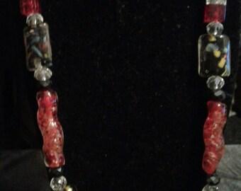 Chunky  Glass Necklace