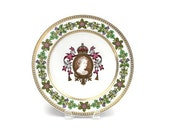 Spode Queen Mothers Plate / 80th Birthday Commemorative Plate / Limited Edition / Fine Bone China / c1980