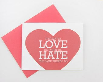 Easy to Love You: Love / Anniversary Card