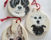 Your best friend hand painted on a Christmas Ornament.