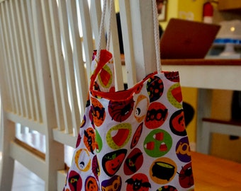 Halloween trick or treat bag, Trick or treat bag, Halloween treat bag, Halloween tote bag, Harvest celebration, Treat bag, Trick or treating