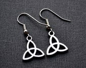 Silver Celtic Trinity Knots . Earrings