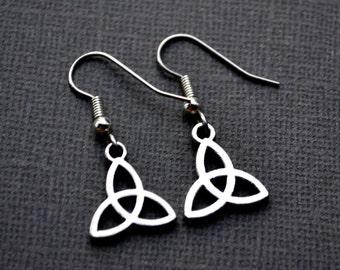 Silver Celtic Trinity Knots . Earrings