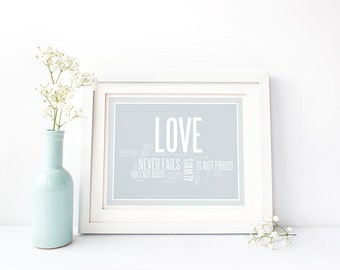Love Is Patient Love Is Kind. Printable Art. Love Is Patient Sign. 1 Corinthians 13. Printable Wedding Gift. Bedroom Decor. Digital Download