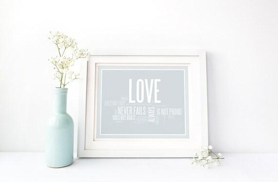 Love Is Patient Love Is Kind. Printable Art. Love Is Patient Sign. 1 Corinthians 13. Printable Wedding Gift. Bedroom Decor. Digital Download