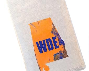 Auburn Tea Towel, WDE, War Damn Eagle Football, State of Alabama