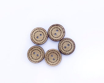 5 Wooden Buttons