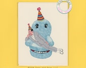 PEE WEE BIRTHDAY - Funny Birthday Card - Birthday Card - Peewee Herman - Peewee's Playhouse - Peewee Card - Pop Culture Card - Item# B046