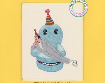 PEE WEE BIRTHDAY - Funny Birthday Card - Birthday Card - Peewee Herman - Peewee's Playhouse - Peewee Card - Pop Culture Card - Item# B046