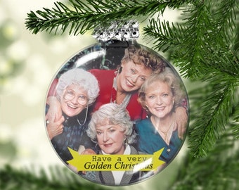 Golden Girls Ornament - Golden Girls Gifts - Have a Golden Christmas