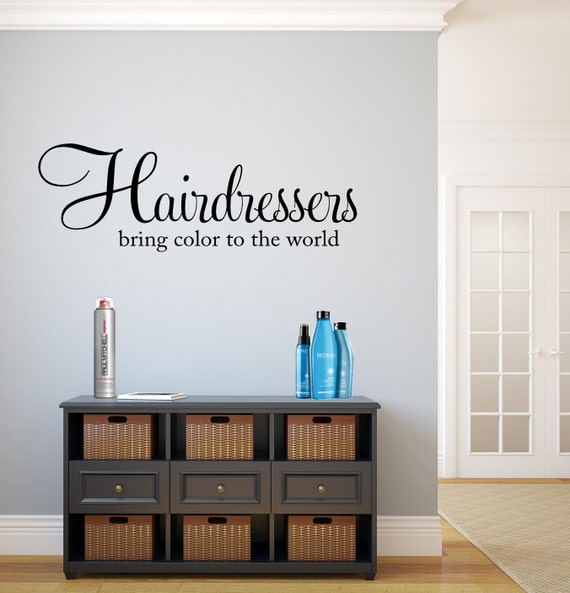 Hair Salon Vinyl Wall Decal Hairdressers Bring By