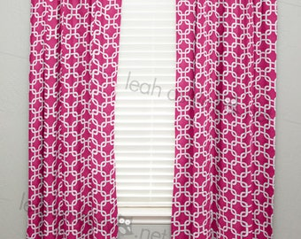 Curtain Panel - Hot Pink Square - C1