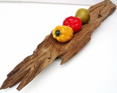 Cypress Wood Centerpiece Decorative Tray Rustic Harvest Table Display