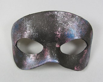 Nebula Pink and Purple Leather Masquerade Mask