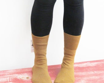 Women's slipper socks made from recycled wool sweaters sz 7/8