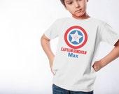 Captain Ringman - Ring Bearer Gift - Superhero T-Shirt - Custom Handmade Wedding - Fun Gifts for Ring Bearer, Groomsman, Best Man