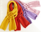 Knit Scarf PDF Pattern - Weave PDF Knitting Pattern - Woman Girl Teen Winter Cowl Accessory  - Instant Download