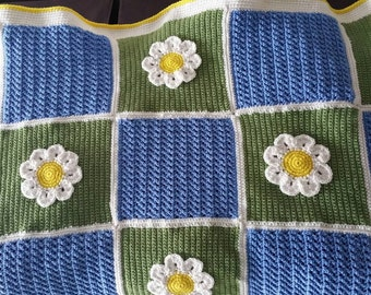 Daisy Garden Afghan Ready to be Shipped