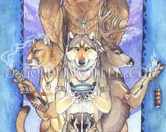 Animal Native American Totems Print
