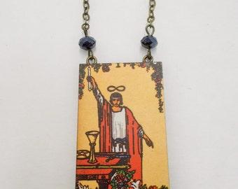 Tarot Card Necklace The Magician