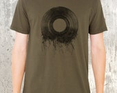 Vinyl Record Roots - Men's T-Shirt - Screen Printed American Apparel Shirt - Men's Small Through 2XL Available