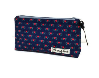 Small Red Hearts Zipper Storage Pouch S173