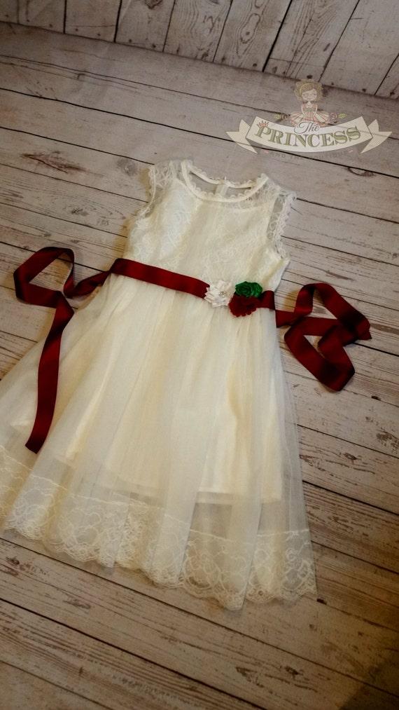 Girls christmas dress baby christmas dress toddler christmas dress