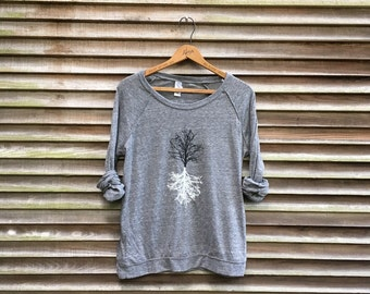 Shadow Tree Pullover, Yoga Top, Camping Top, Hiking Tee, S,M,L,XL