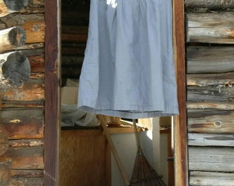 A-line cabin dress with corset back