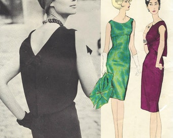 1960s Guy Laroche Womens Sheath Dress and Bolero Vogue Paris Original Sewing Pattern and Label Size 10 Bust 31 Vintage 1960s Vogue Patterns
