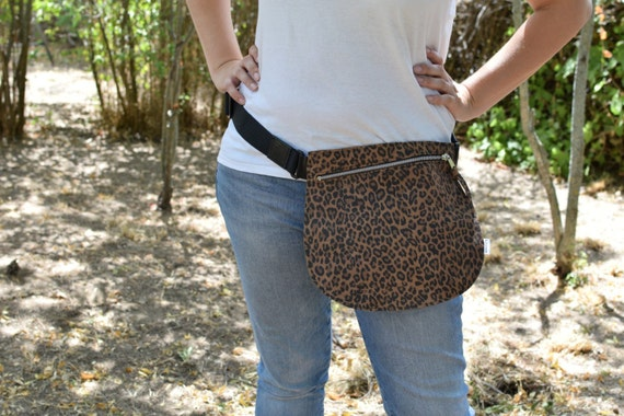 Belt bag,leather waist bag,hip leather bag,fanny pack leather,leopard leather bag,hip belt bag,rider bag,red leather fanny,zipper waist