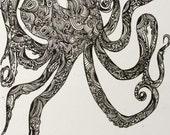 Octopus 5x7 matte print