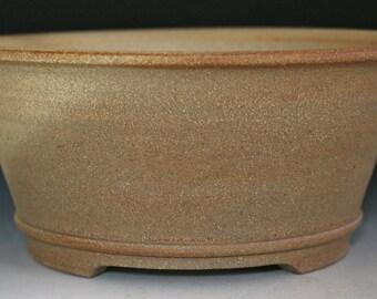 Unglazed Round Cascade/Semi-cascade Bonsai Pot