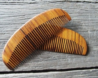 TEAK Wood Hair Comb Pocket Size Lightweight but Strong Handmade with Anti-Static & No Snag