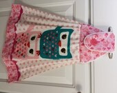 Valentine's Day, Owl Be Your Valentine, Hanging Hand Towel, All Cotton, Plush Towel and Embellished Trims