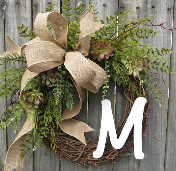 Succulent Wreath Wreath For All Year Round By Hornshandmade