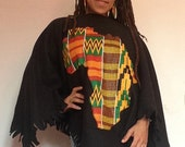 AFRICA PONCHO colorful kente