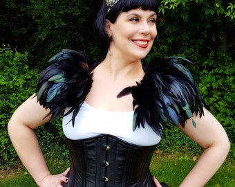 Iridescent Feather Capelet - One Size