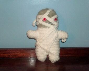 CLEARANCE Creepy Mummy Amigurumi Doll (finished doll)