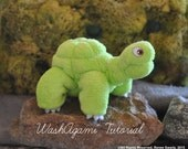 Washcloth Turtle, Sea Turtle, WashAgami ™, Intructional Video and PDF