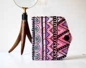 Hand Painted Leather Wallet Card Holder Coin Purse, Girlfriend Gift, Wife Gift, OOAK, Womens Leather Wallet, One-of-a-kind gift for her