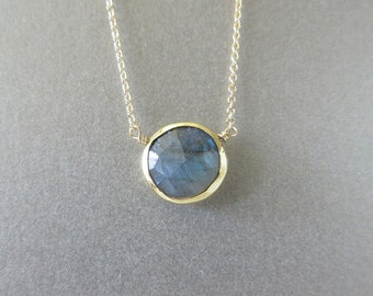 Labradorite  Necklace - Pendant Necklace - Labradorite Necklace - Labradorite Jewelry