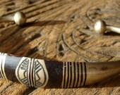Niger Tuareg very tarnished hand engraved bracelet