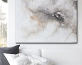 ORIGINAL Large Art Abstract Painting Grey White Acrylic Painting Home Decor Wall Art Large Art Minimalist Artwork READY to SHIP - Christine