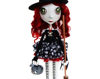 Witch Art Doll - Big Eyed Doll - Halloween Witch - Witch Art