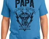 Papa The Legend Engine Motorcycle Men's T-shirt Short Sleeve 100% Cotton S-2XL Great Gift (T-DA-23)
