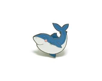 Shark Enamel Pin - Soft Enamel Pin Cloisonné Shark Lapel Pin Shark Pin Badge Great White Kawaii Pin Jaws Brooch