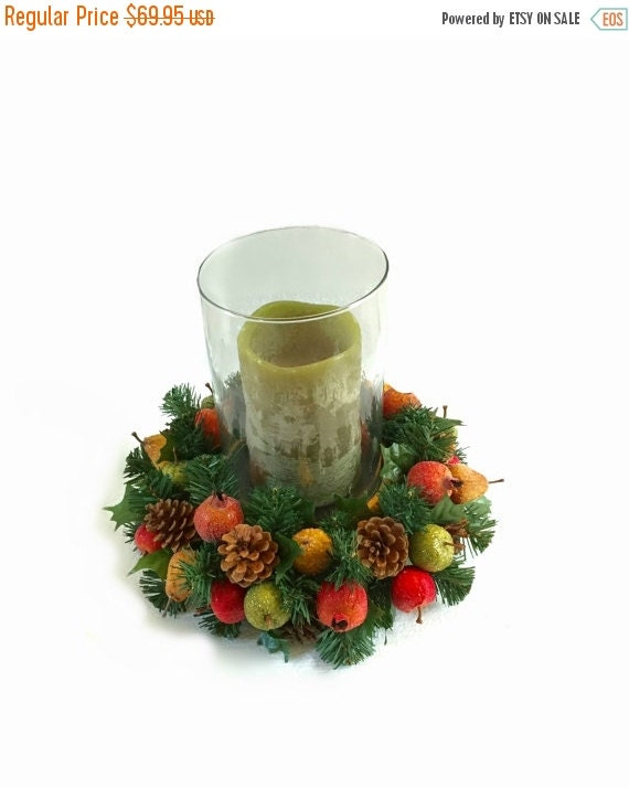 On sale christmas centerpiece candle by